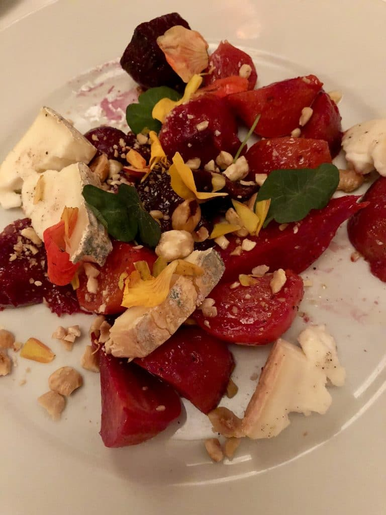 Roasted Baby Beet and Cherry Salad