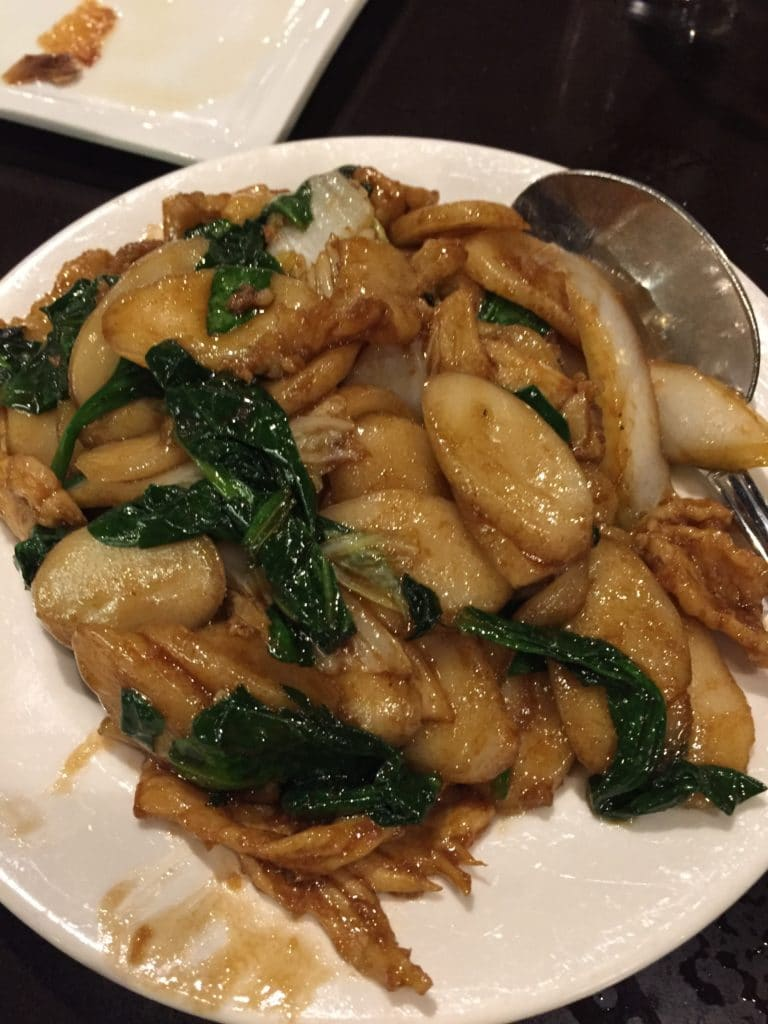 Shanghai Rice Cakes with Pork