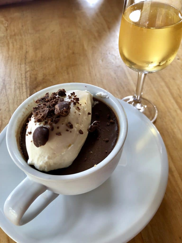 Coffee Chocolate Pot de Créme with Sauternes