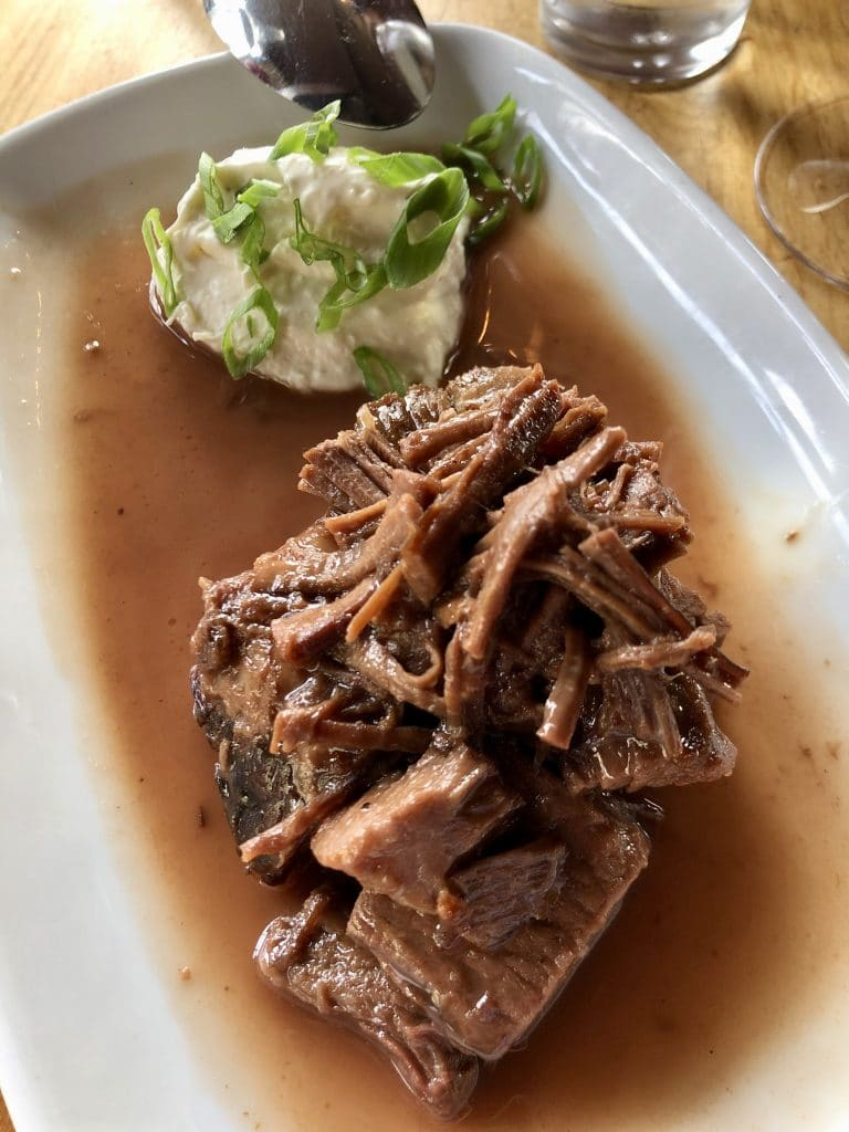 Beef Brisket with Horseradish Créme Fraîche