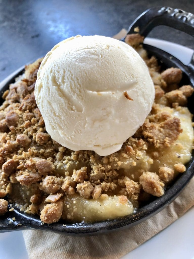 Cast Iron Apple Crumble