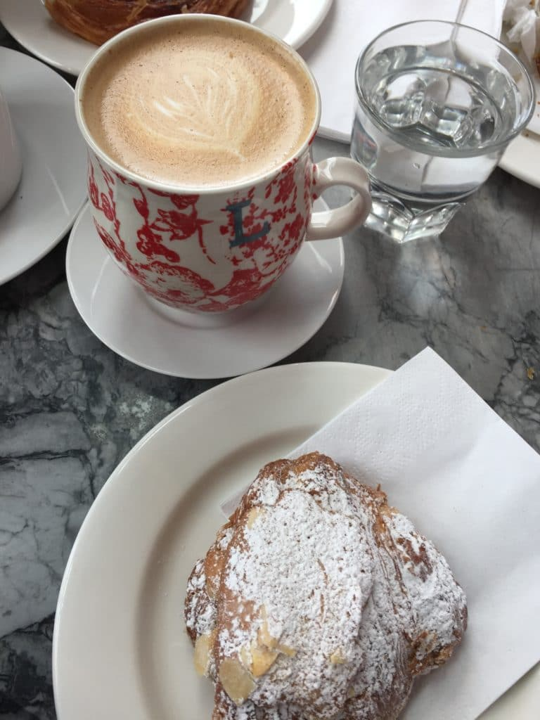 Latte and Almond Croissant