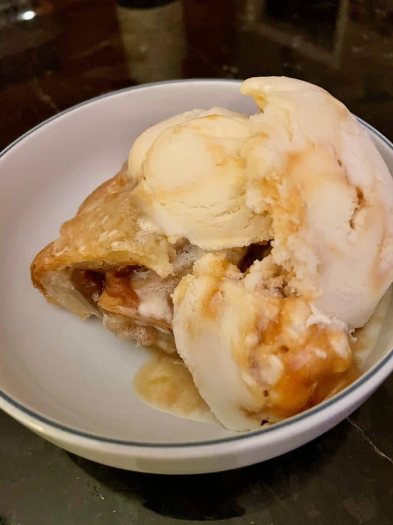 Apple pie with Hokey Pokey Ice Cream
