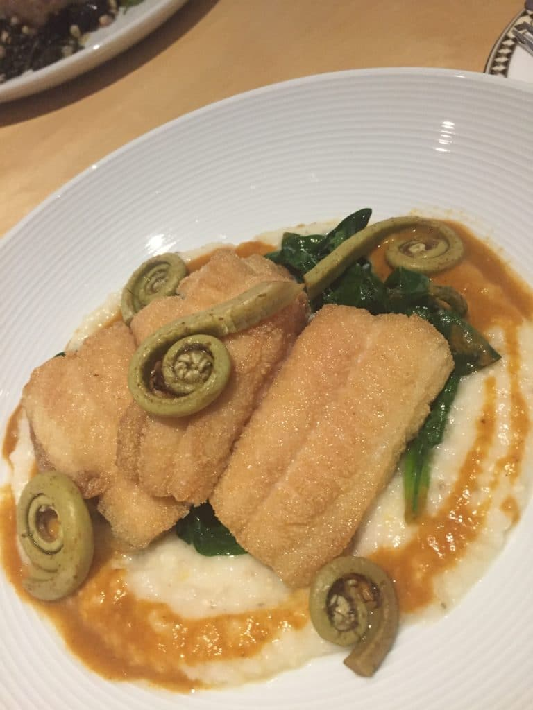 Catfish with Grits
