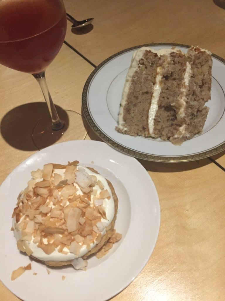 Hummingbird Cake and Coconut Cream Pie
