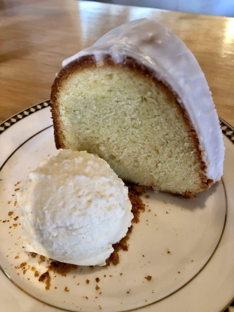 Pound Cake with Vanilla Bourbon and Lemon Curd