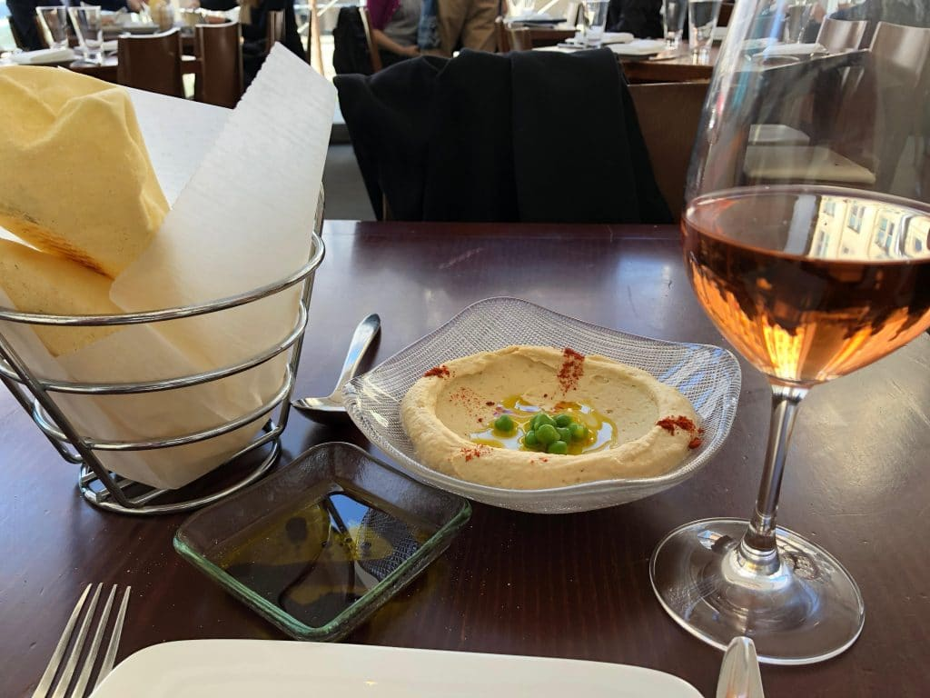 Hommus and Pita with Rosé