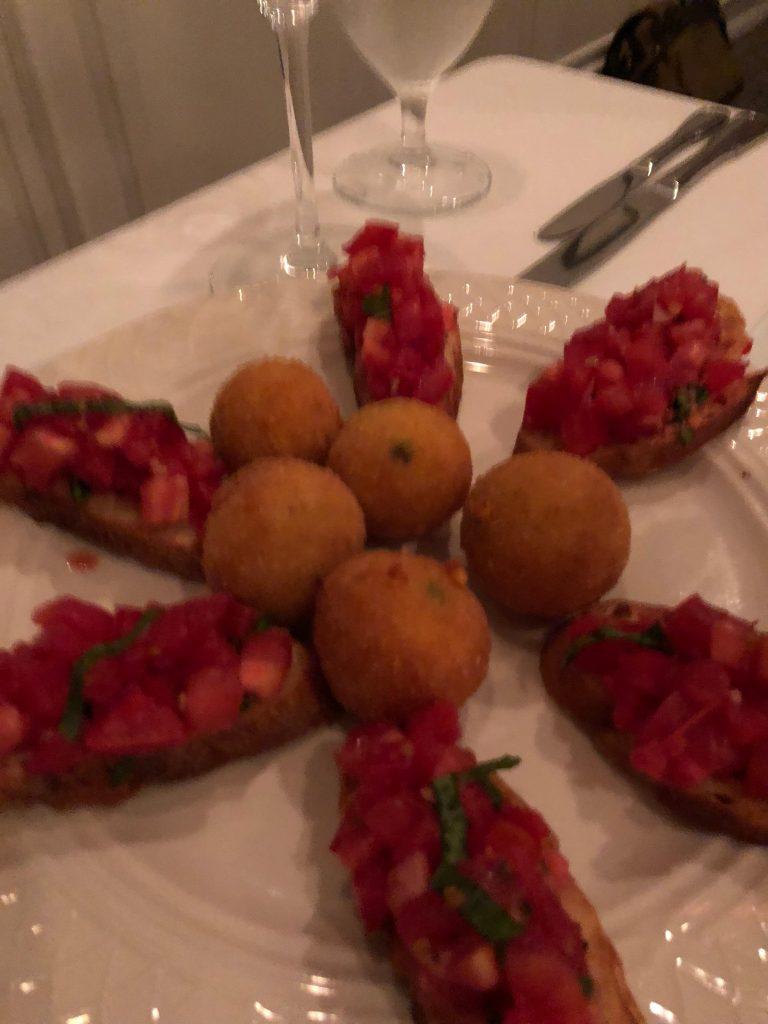 Bruschetta and Risotto Balls
