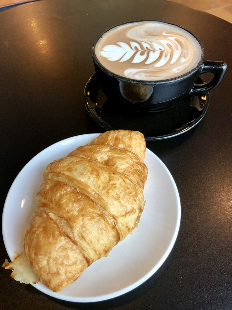 Ham and Cheese Croissant and Mocha