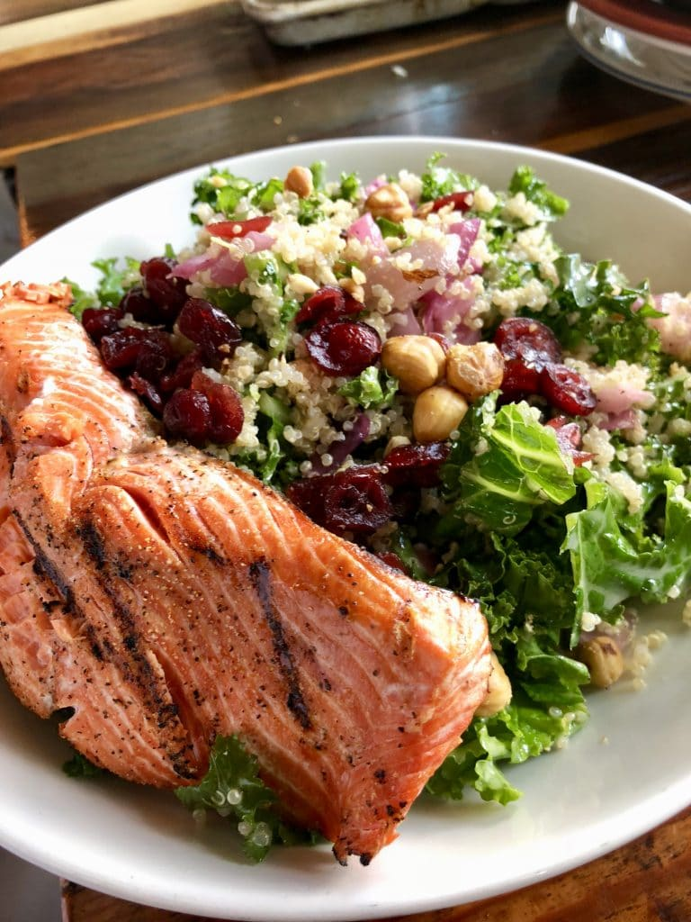 Indian Summer Salad with Salmon