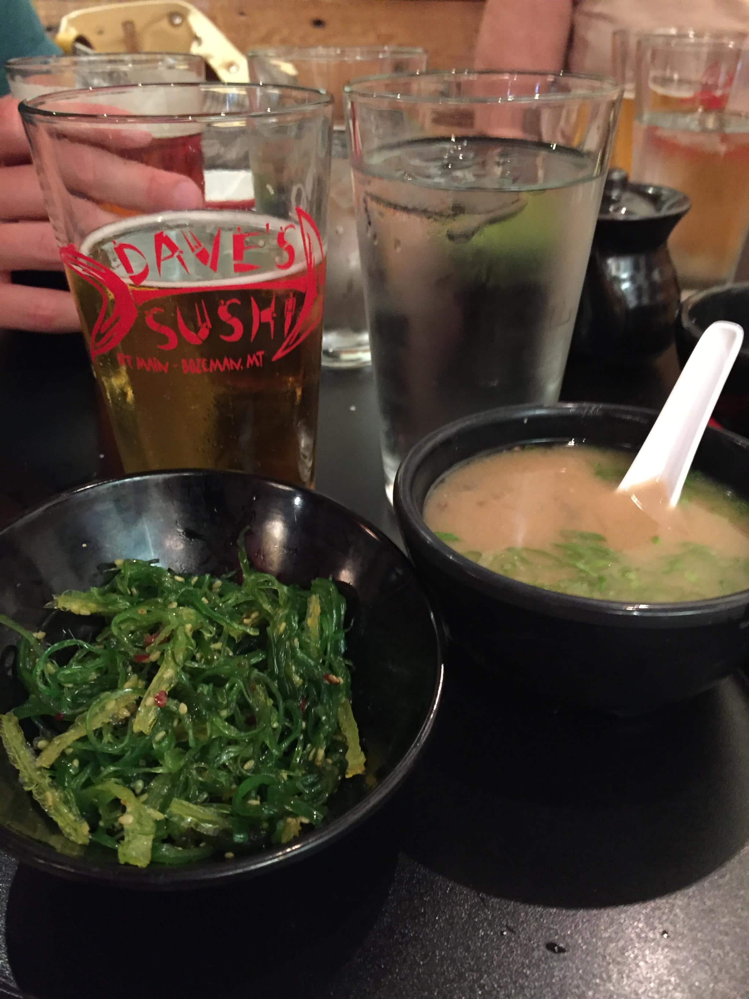 Seaweed Salad and Miso Soup