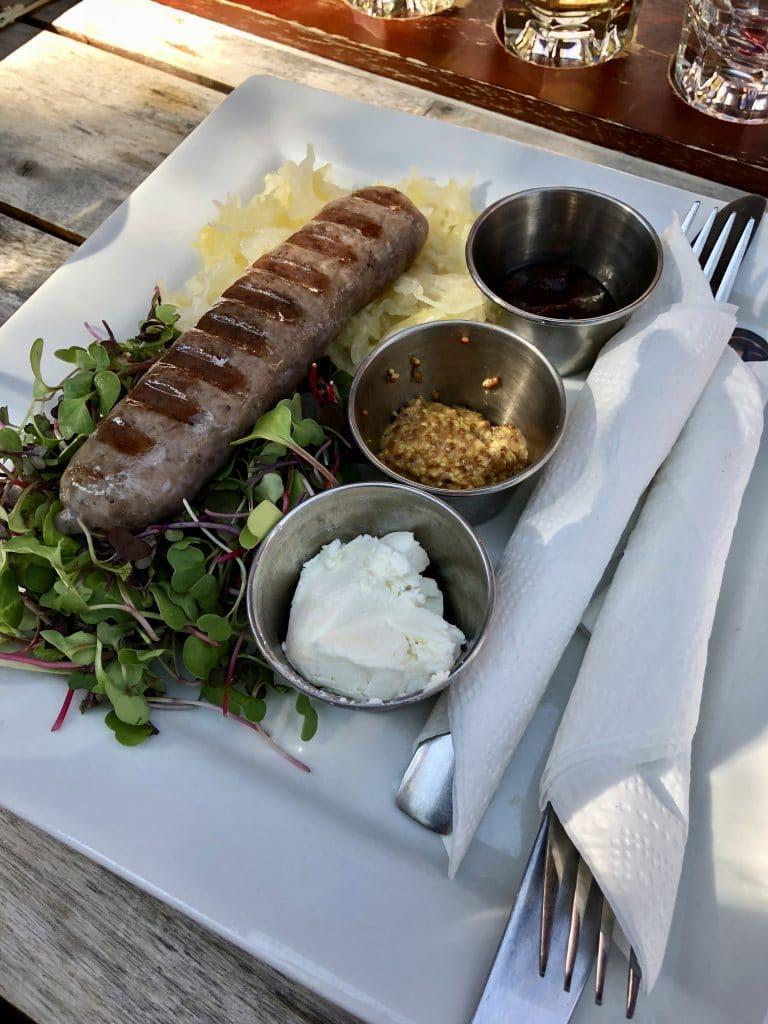Bison Sausage Plate