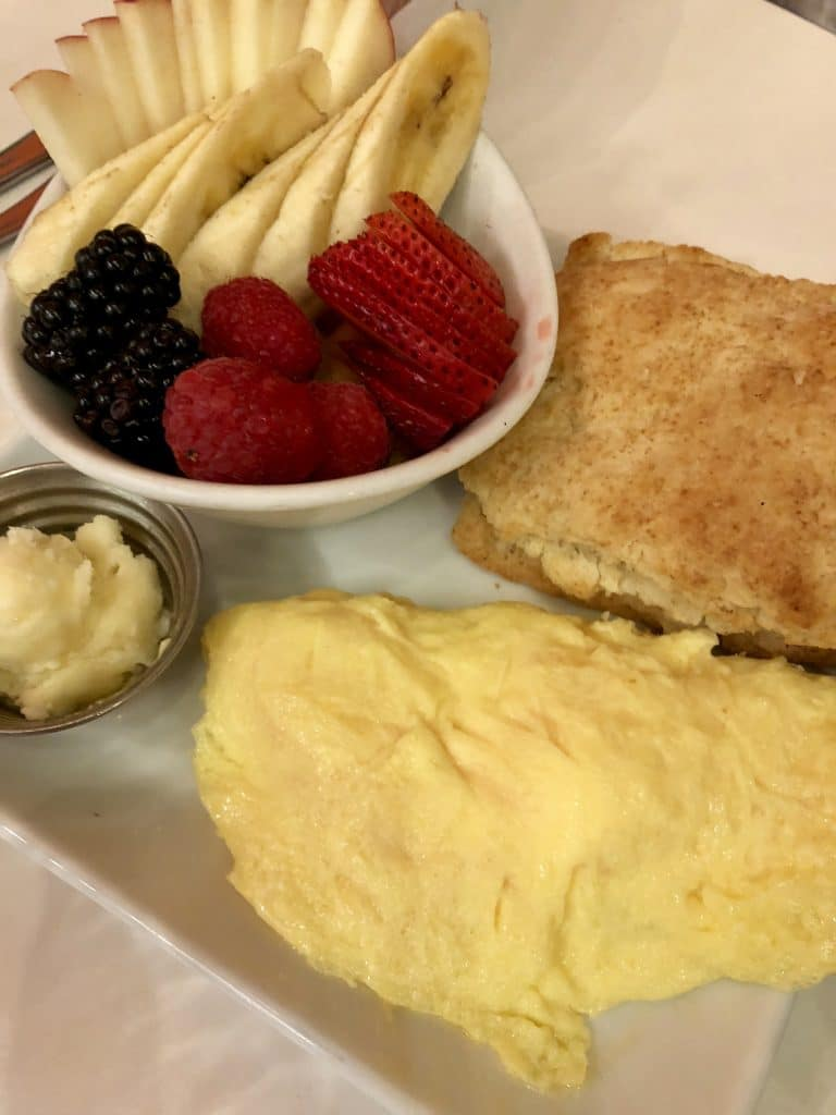 Omelet and Fruit Bowl