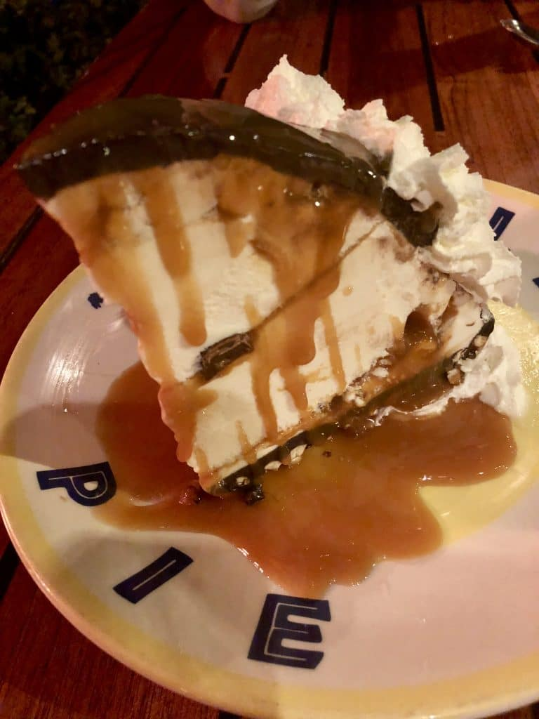 Hula Pie Variation with Pretzels and Caramel Sauce