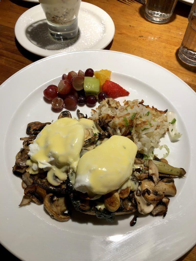 Eggs Benedict Mushroom Pesto