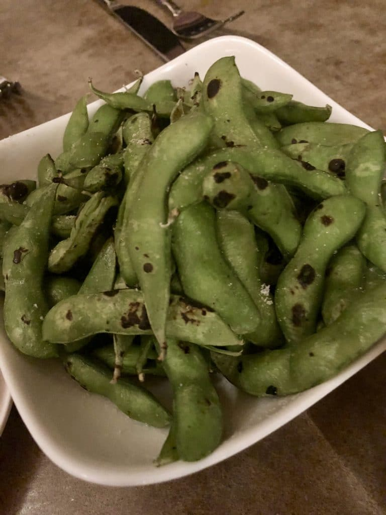 Grilled Edamame