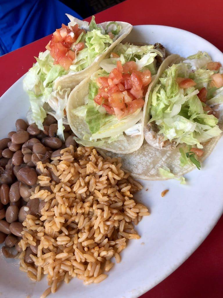 Mahi Mahi Taco Plate