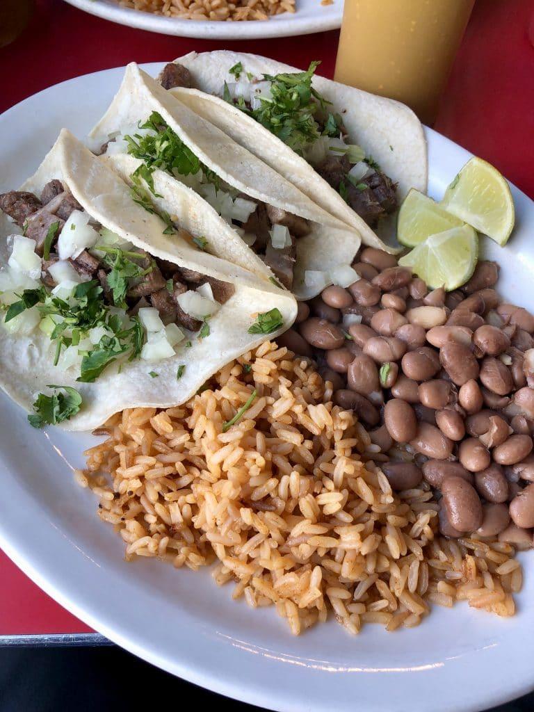Tacos de Lengua Plate
