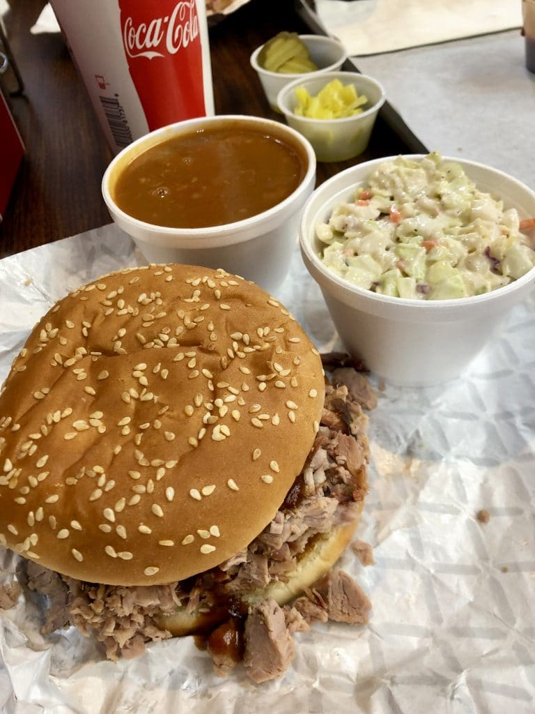 Pulled Pork, Beans and Slaw