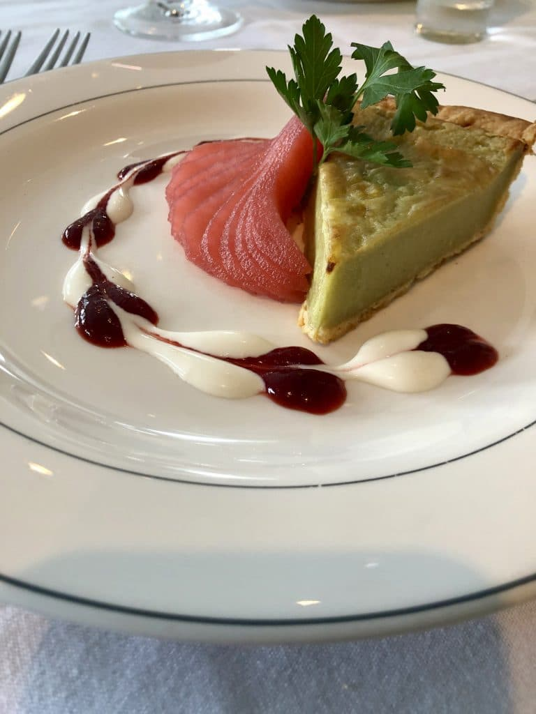 Gorgonzola Tart with Port Wine Poached Pear