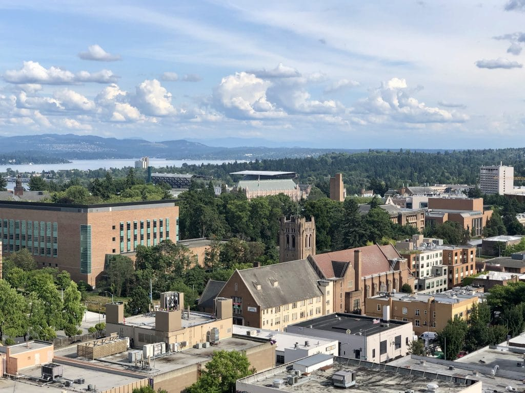 Law School to Left and Husky Stadium in the Distance