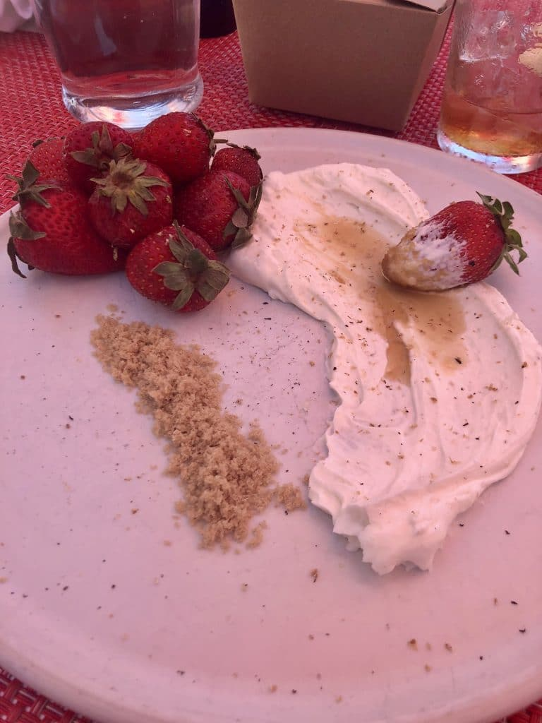 Strawberries with Greek Cream Cheese