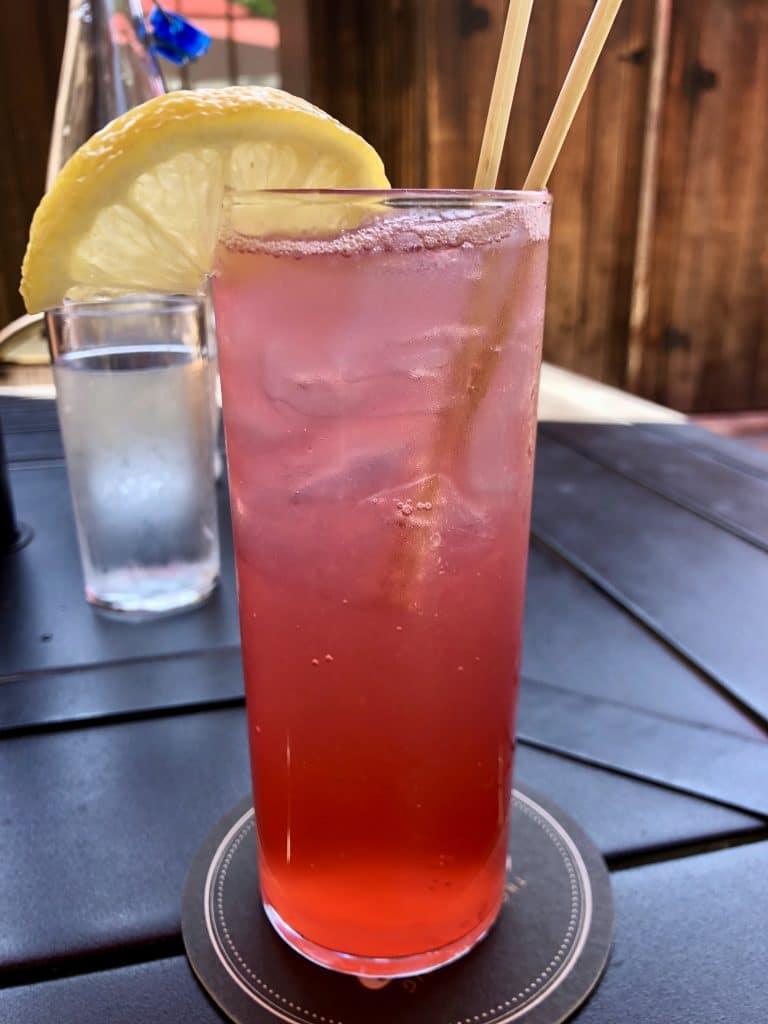 Pomegranate Lime Shrub