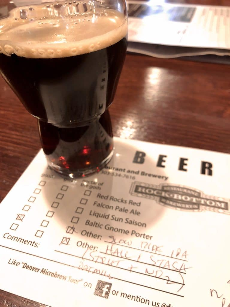 The Stout was 1st at Rock Bottom Brewery