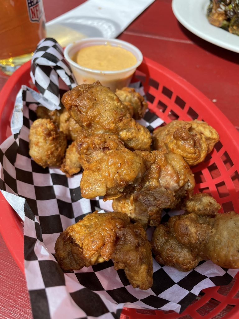 Fried Chicken Gizzards with Buffalo Aioli