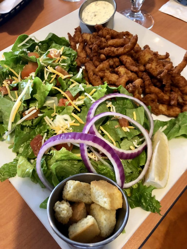 Fried Clams and Side Salad