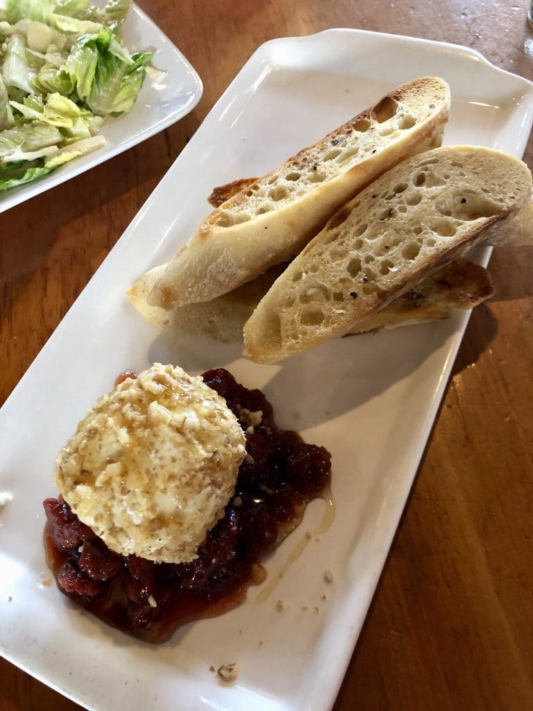 Walnut Rolled Goat Cheese with Cherry Compote
