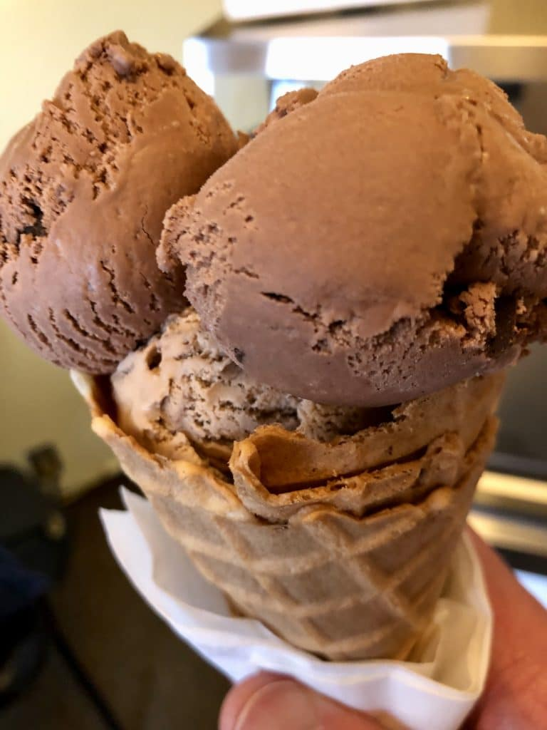 Chocolate Mousse and Coffee Almond Fudge