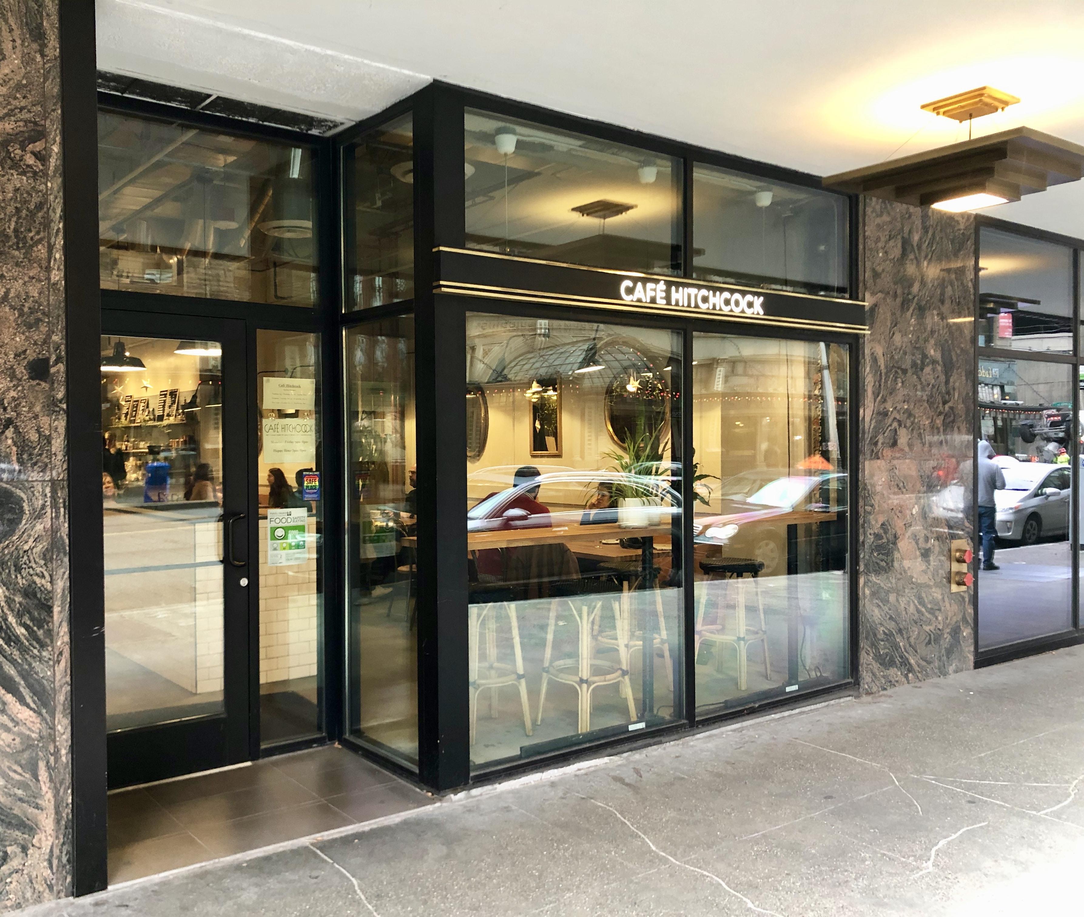 Café Hitchcock Entrance