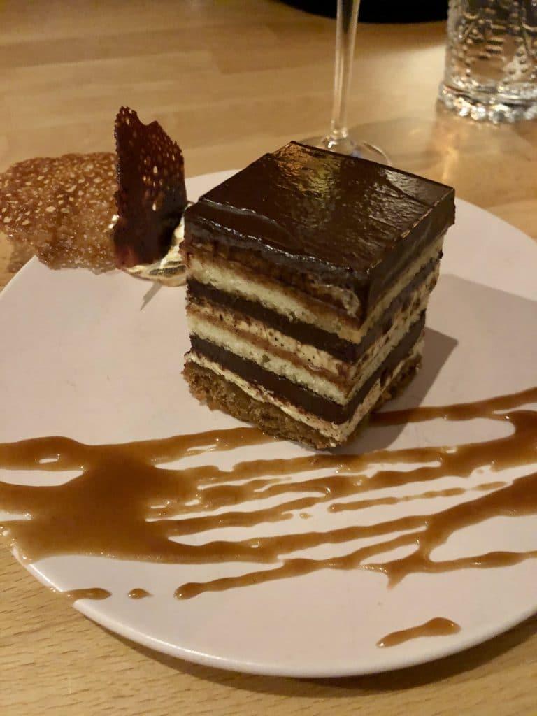 Smoked S'mores Opera Cake