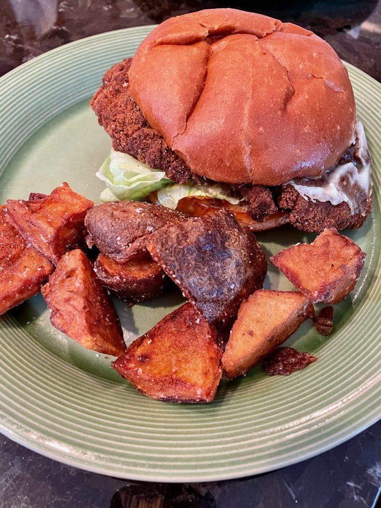 Mean Chicken Sandwich with Fries