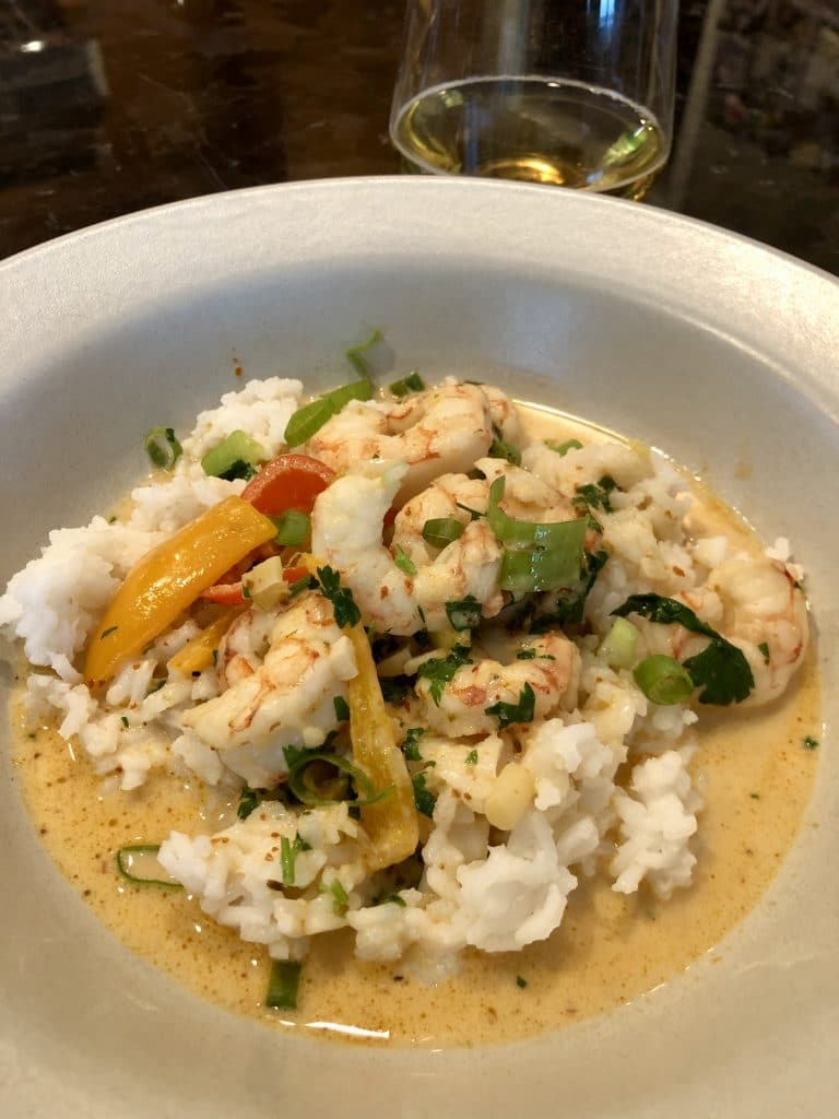Shrimp and Rice Curry Bowl