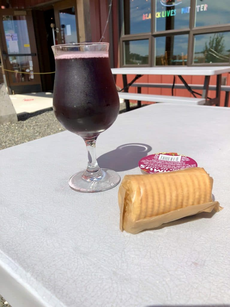 Elderberry Cider and a Snack