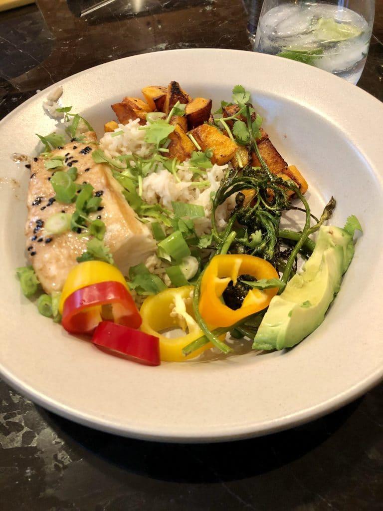 Salmon Veggie Bowl with Rice
