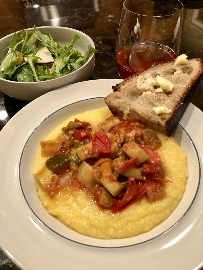 Ratatouille and Polenta