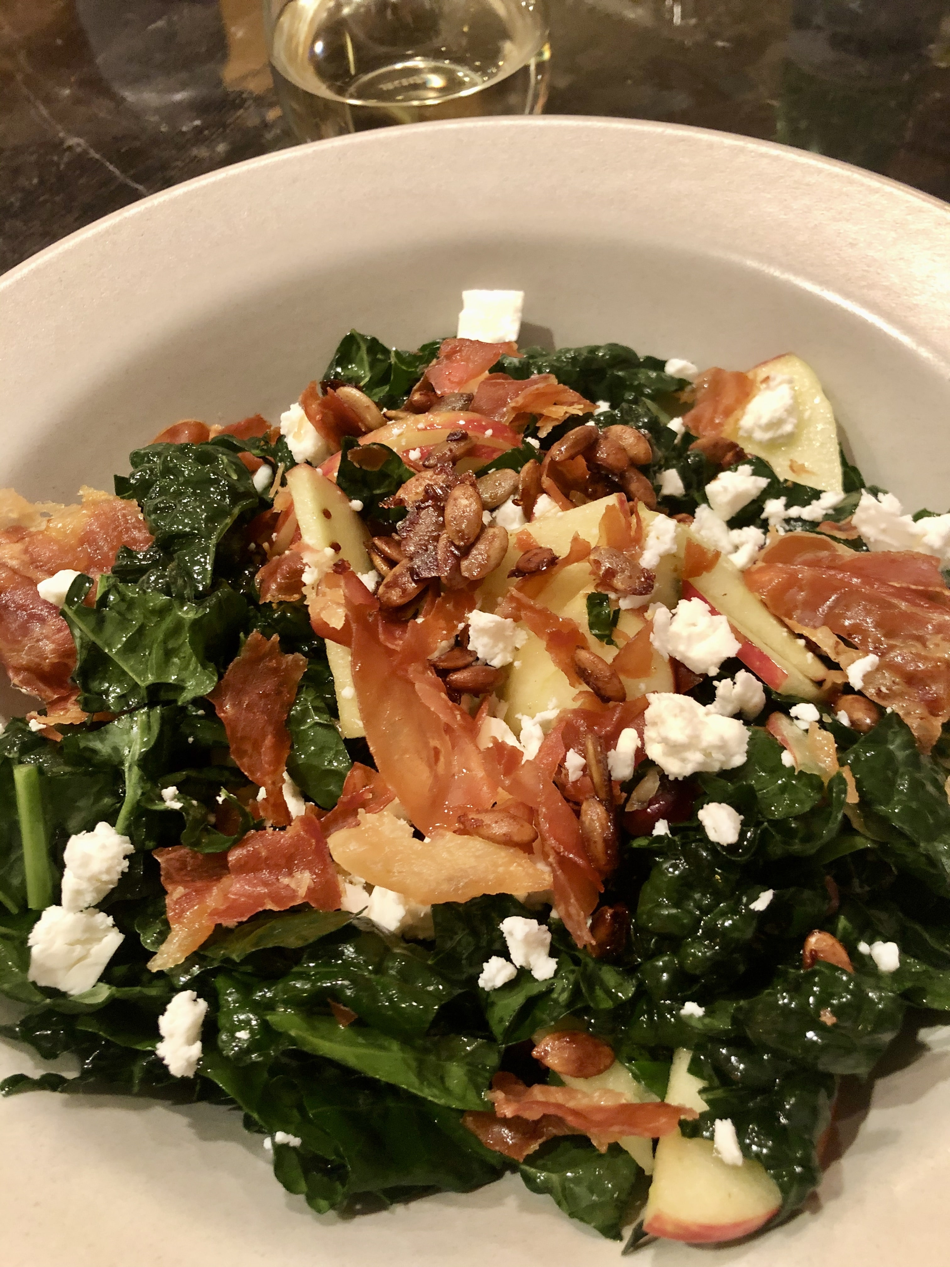 Honeycrisp Apple and Kale Salad