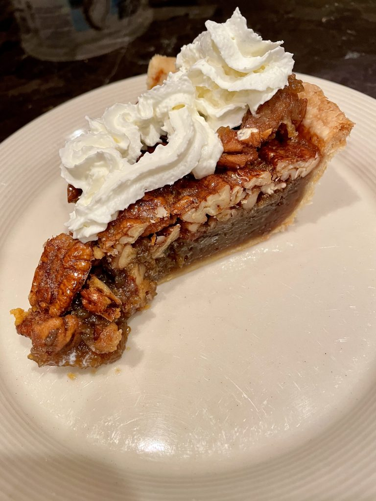 Pecan Pie Presentation mit Slag