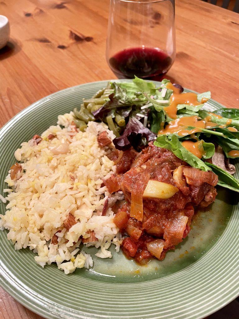 Chicken Tagine with Saffron Rice