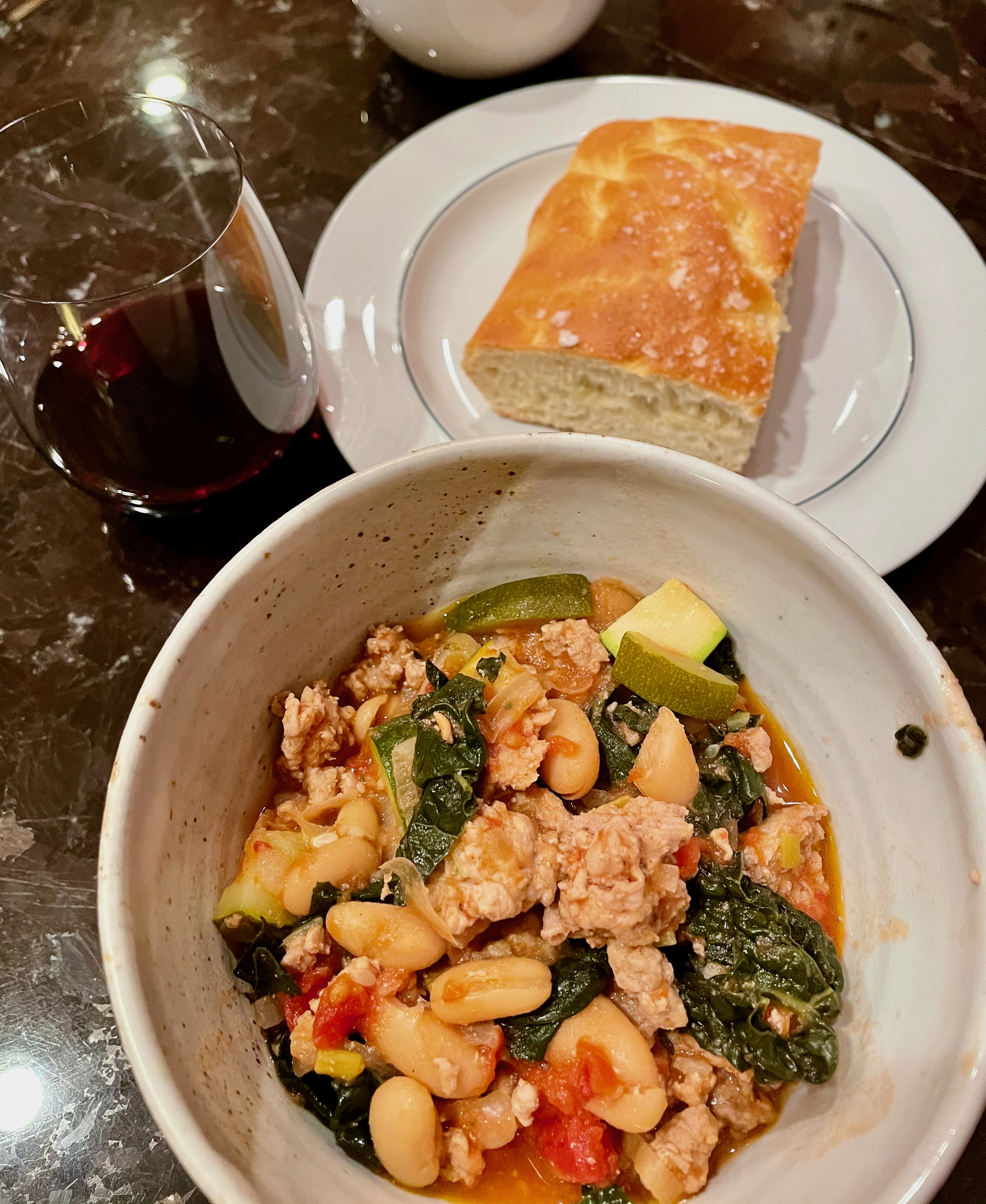 White Bean and Sausage Ragout with Kale