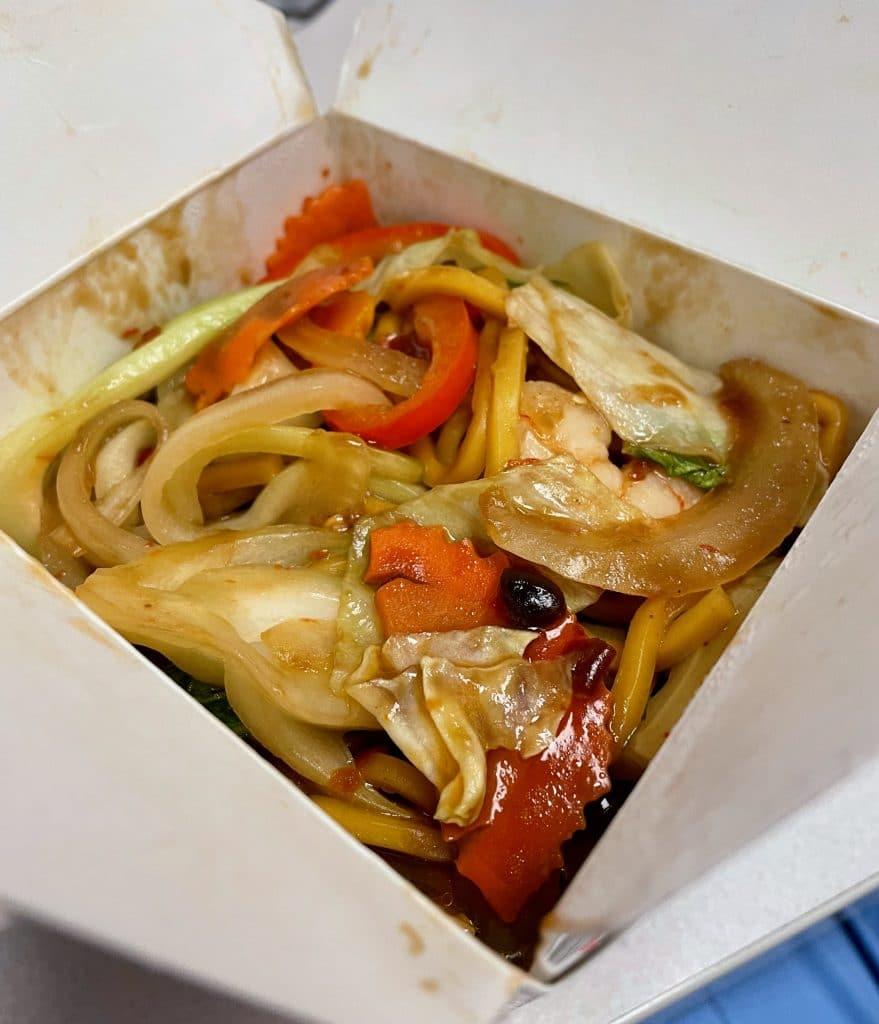 Mongolian Noodles with Shrimp