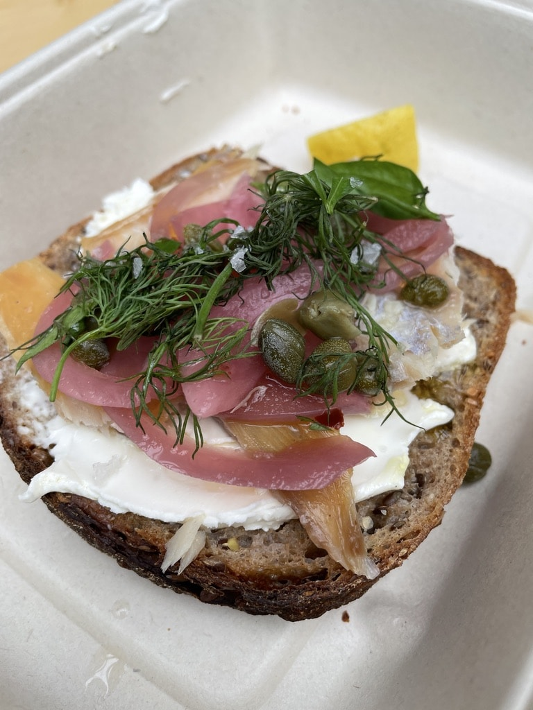 Smoked Trout Toast