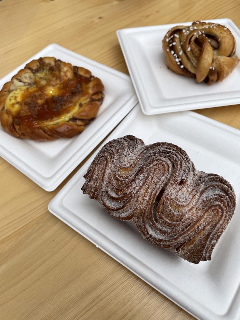 Cardamom Croissant, Plum Tart, Cardamom Knot